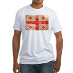 Georgia Flag Fitted T-Shirt