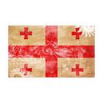 Georgia Flag 38.5 x 24.5 Wall Peel