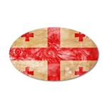 Georgia Flag 22x14 Oval Wall Peel