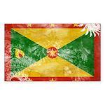 Grenada Flag Sticker (Rectangle 10 pk)