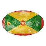 Grenada Flag Sticker (Oval 50 pk)