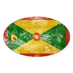 Grenada Flag Sticker (Oval 10 pk)