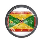 Grenada Flag Wall Clock