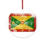 Grenada Flag Ornament (Round)