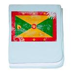 Grenada Flag baby blanket