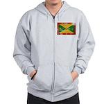 Grenada Flag Zip Hoodie