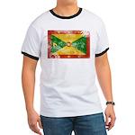 Grenada Flag Ringer T