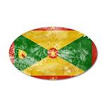 Grenada Flag 22x14 Oval Wall Peel