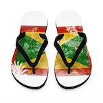 Grenada Flag Flip Flops