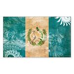 Guatemala Flag Sticker (Rectangle 10 pk)
