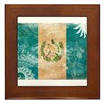 Guatemala Flag Framed Tile
