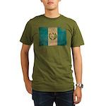 Guatemala Flag Organic Men's T-Shirt (dark)