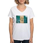 Guatemala Flag Women's V-Neck T-Shirt
