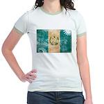 Guatemala Flag Jr. Ringer T-Shirt