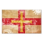 Guernsey Flag Sticker (Rectangle 50 pk)
