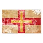 Guernsey Flag Sticker (Rectangle 50 pk)