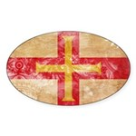 Guernsey Flag Sticker (Oval)