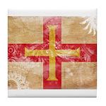 Guernsey Flag Tile Coaster