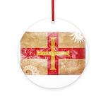 Guernsey Flag Ornament (Round)