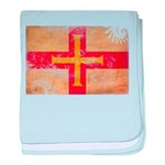 Guernsey Flag baby blanket