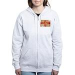 Guernsey Flag Women's Zip Hoodie