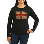 Guernsey Flag Women's Long Sleeve Dark T-Shirt
