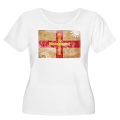 Guernsey Flag Women's Plus Size Scoop Neck T-Shirt