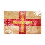 Guernsey Flag 38.5 x 24.5 Wall Peel