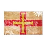 Guernsey Flag 22x14 Wall Peel