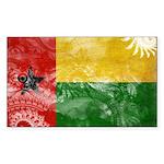 Guinea Bissau Flag Sticker (Rectangle 50 pk)
