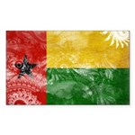 Guinea Bissau Flag Sticker (Rectangle 10 pk)