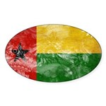 Guinea Bissau Flag Sticker (Oval 50 pk)