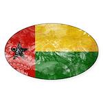 Guinea Bissau Flag Sticker (Oval 10 pk)