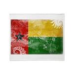 Guinea Bissau Flag Throw Blanket