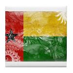 Guinea Bissau Flag Tile Coaster