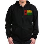Guinea Bissau Flag Zip Hoodie (dark)