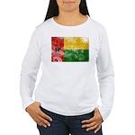 Guinea Bissau Flag Women's Long Sleeve T-Shirt