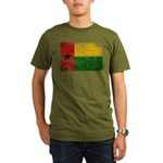 Guinea Bissau Flag Organic Men's T-Shirt (dark)
