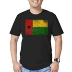 Guinea Bissau Flag Men's Fitted T-Shirt (dark)