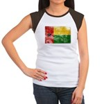Guinea Bissau Flag Women's Cap Sleeve T-Shirt