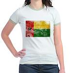 Guinea Bissau Flag Jr. Ringer T-Shirt