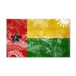 Guinea Bissau Flag 22x14 Wall Peel