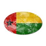 Guinea Bissau Flag 38.5 x 24.5 Oval Wall Peel