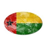Guinea Bissau Flag 22x14 Oval Wall Peel