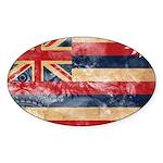 Hawaii Flag Sticker (Oval 50 pk)