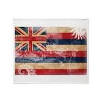Hawaii Flag Throw Blanket
