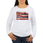 Hawaii Flag Women's Long Sleeve T-Shirt