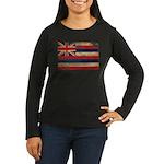 Hawaii Flag Women's Long Sleeve Dark T-Shirt