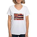 Hawaii Flag Women's V-Neck T-Shirt