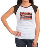 Hawaii Flag Women's Cap Sleeve T-Shirt